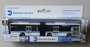 """6"""" NEW YORK CITY MTA ARTICULATED BUS PLASTIC DARON TOYS"""