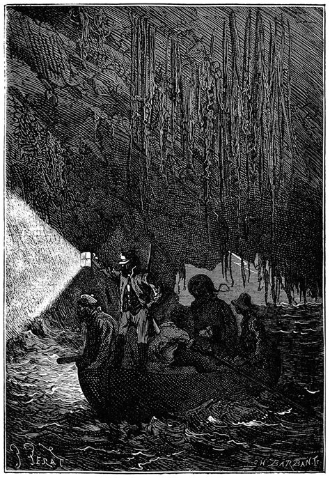 Colonists in the Boat – Old Book Illustrations