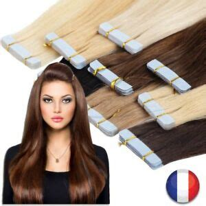 EXTENSION TAPE BANDE ADHESIVE CHEVEUX 100% NATURELS REMY