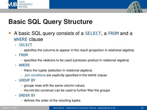 Structured Query Language (SQL) - Lecture 5 - Introduction
