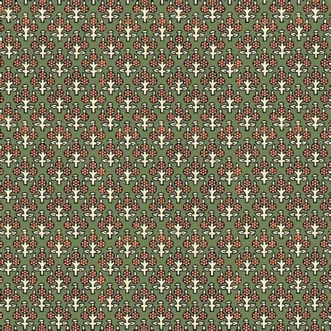 Inprint Indian Spice Market - 4515 - Fruit Trees on Green