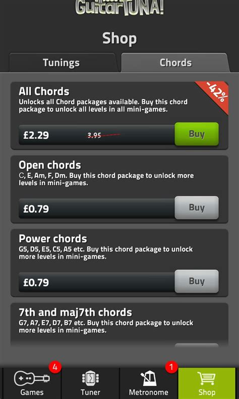 Freemium app Guitar Tuna comes in from iOS and Android