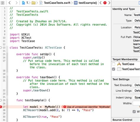 ios - Unit test class for Swift project - Stack Overflow