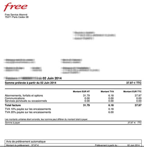 exemple facture free mobile