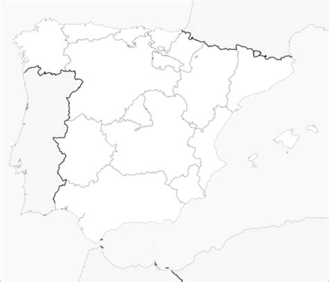 Map of Spain with Regions coloring page   Free Printable