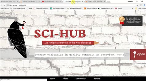 SCI-HUB NEW link for Downloading FREE Research papers 2018
