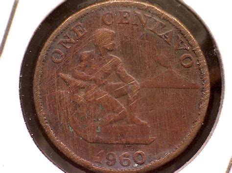1960 PHILIPPINES ONE CENTAVO - for sale, buy now online