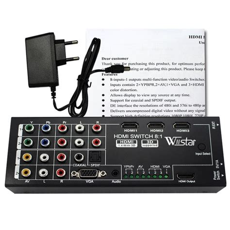 Wiistar Multi functional HDMI Converter Switch 8 Input to