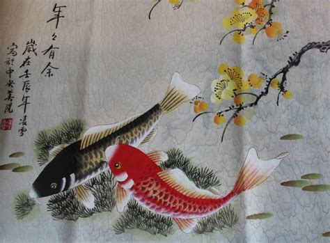 Buy Large Koi Fish Art Chinese Painting from Chilture