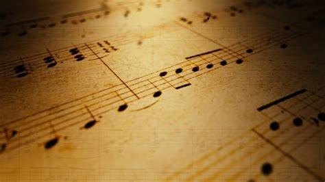 Atmospheric Music Background with Notes on Old Brown Paper