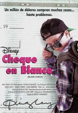 Blank Check Movie Posters From Movie Poster Shop