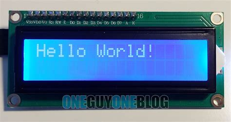 16x2 LCD display on the Geekcreit UNO Arduino - One Guy