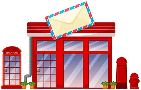 Postoffice shop on white background - Download Free