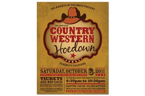 western dance flyer - Google Search | Country themed