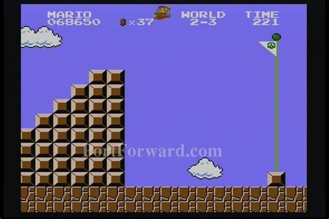 Super Mario Bros - At long last, up the stairs you go to