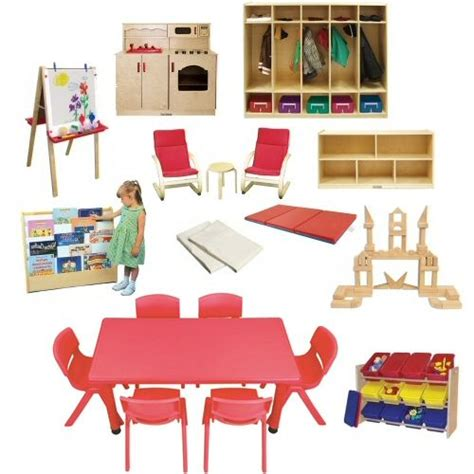"""DAYCARE FURNITURE SET-Plastic, 10"""" CHRS, 24x48 Table, Mats"""