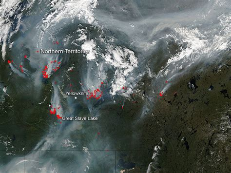 Wildfires in Canada's Northern Territories   NASA