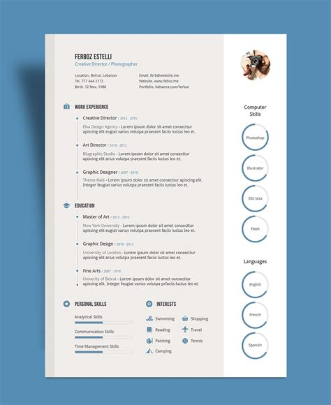 Free Professional Resume (CV) Template With Cover Letter